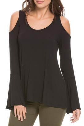 Elan International Cold Shoulder Top