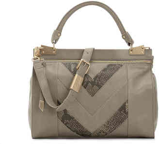 Women's Foley + Corinna Dione Cerberus Leather Satchel -Grey $398 thestylecure.com