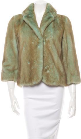 CelineCéline Cropped Mink Coat