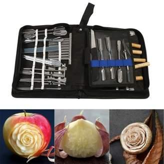 Yosoo Kitchen Carving Chisel Chef Tools,46PCS Kitchen Carving Chisel Chef Tools Fruit Vegetable Food Peeling Set Kit USA