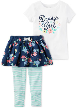 Carter's 2-Pc. Daddy's Girl T-Shirt & Tutu Leggings Set, Baby Girls (0-24 months) $24 thestylecure.com