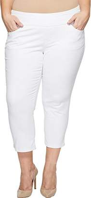 Jag Jeans Women's Plus Size Peri Straight Pull on Crop