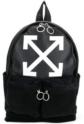 Off-White logo print backpack