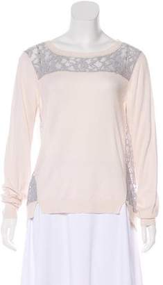 Rebecca Taylor Lace-Accented Sweater w/ Tags