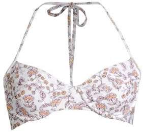 Shoshanna Floral Paisley Bikini Top