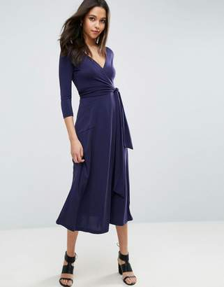 ASOS Wrap Maxi Dress in Jersey Crepe $58 thestylecure.com