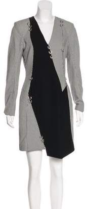 Thierry Mugler 2016 Pierced Houndstooth Dress