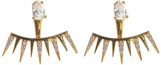 Wild Hearts Spiked Ear Jackets Gold