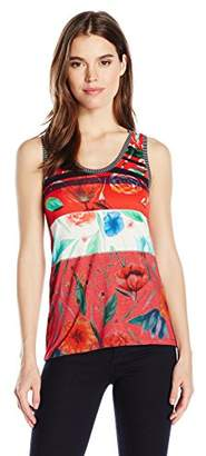 Desigual Women's Amarillo Knitted Strapless T-Shirt