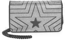 Stella McCartney Small Star Studded Velvet Shoulder Bag