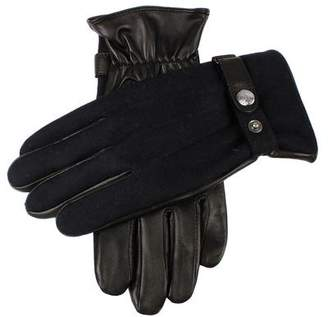 Dents Gloves Dents Guilford Wool Flannel Back Gloves in Navy/Black