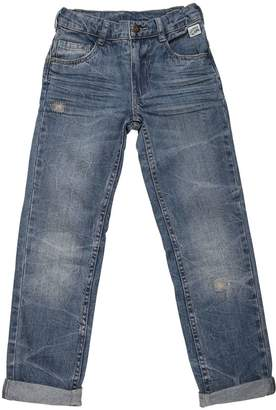 Washed & Stitched Cotton Denim Jeans