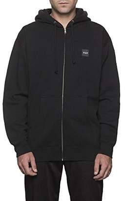 HUF Men's Woven Label Zip Hood