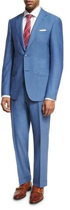 Canali Solid Wool Two-Piece Suit, Light Blue $1,895 thestylecure.com
