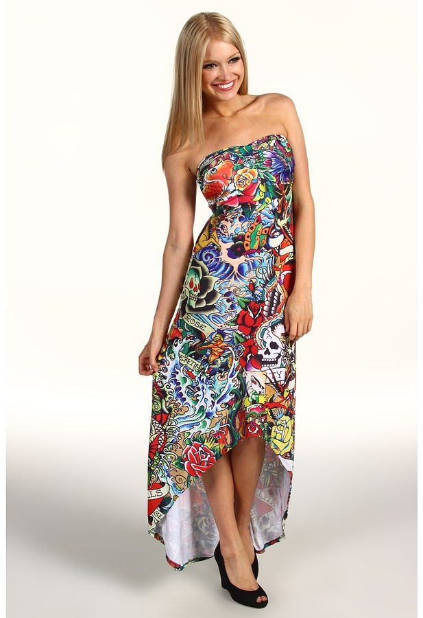 Ed Hardy Boho Biker Maxi Dress (Multi Print) - Apparel
