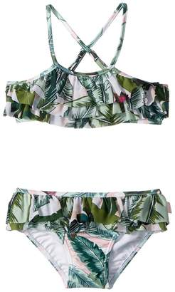 Seafolly Palm Beach Frill Tankini Swim Set Girl's Swimwear Sets