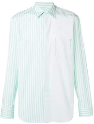Maison Margiela contrast panels shirt