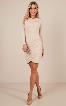 Showpo No Rain dress in beige - 8 (S) Dresses