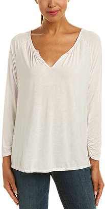 Michael Stars Notched Neck Top