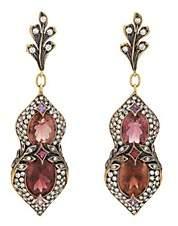 Cathy Waterman Women's Mixed-Gemstone Drop Earrings - Pink