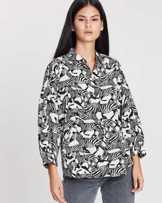 Topshop Zebra Print Shirt