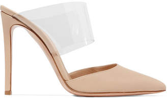 Gianvito Rossi Virtua 105 Pvc And Leather Mules - Neutral