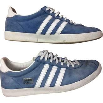 adidas Gazelle Blue Suede Trainers