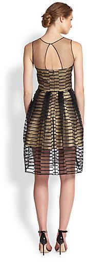 ABS by Allen Schwartz Metallic Cocktail Dress
