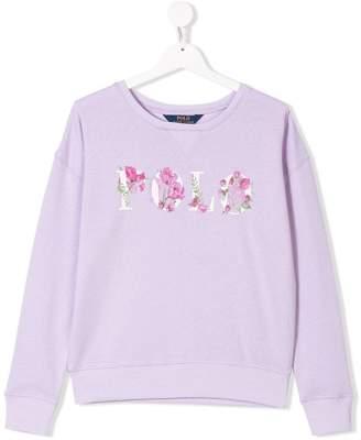 Ralph Lauren Kids TEEN floral logo print sweatshirt