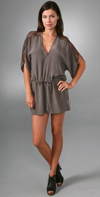Mason By Michelle Mason Lace Yoke Dress