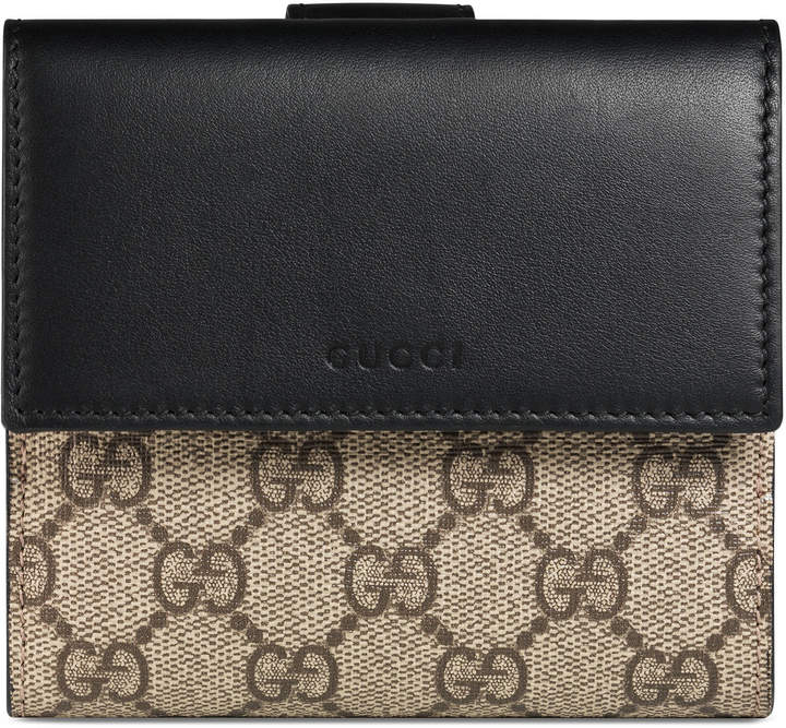 GucciGG Supreme french flap wallet