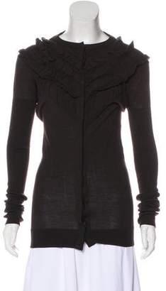 Givenchy Ruffled Wool Cardigan