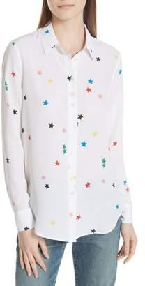 Equipment Essential Star Print Silk Shirt