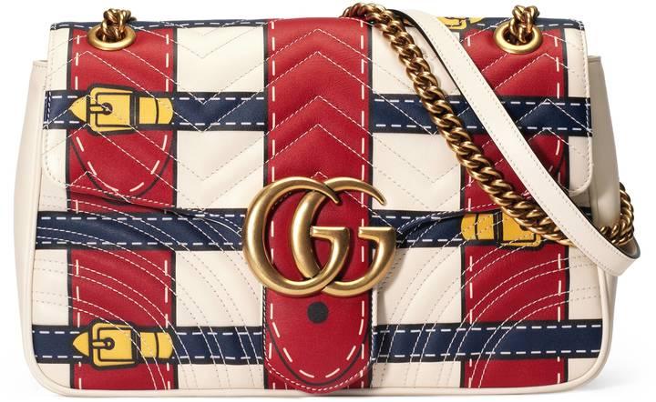GG Marmont medium Trompe l'oeil shoulder bag