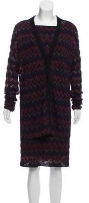 Missoni Knit Cardigan Dress Set