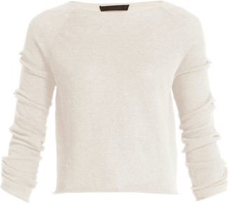 Jian bow-sleeved cashmere sweater