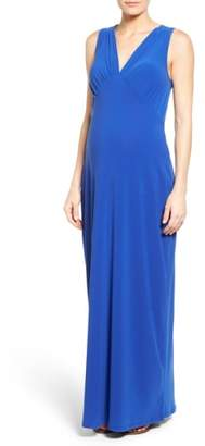 Leota 'Isabella' V-Neck Maternity Maxi Dress