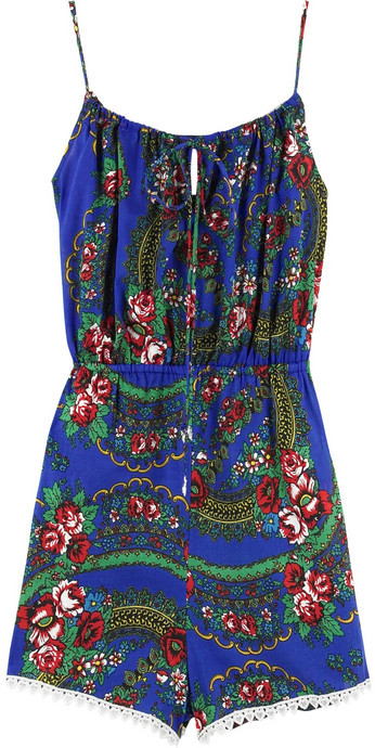 Zimmermann Babushka cotton floral playsuit