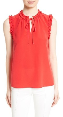 Women's Tory Burch Marie Silk Shell $225 thestylecure.com