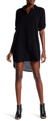 Allen Allen Roll Tab Shirt Dress $128 thestylecure.com