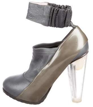 Emilio Pucci Metallic Ankle Strap Pumps
