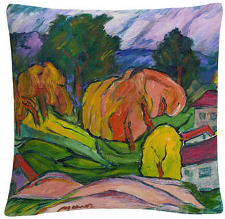 Baldwin Haiku Tuscan Bold Abstract By Masters Fine Art 16 X 16 Decorative Throw Pillow