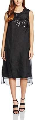 Almost Famous Women's Sheer Silk Party Column Sleeveless Dress