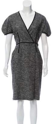 Marco De Vincenzo Wool Midi Dress