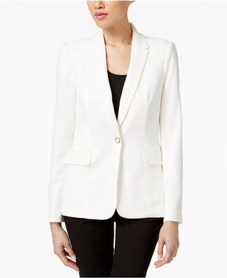 Calvin Klein One-Button Blazer $129.50 thestylecure.com