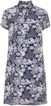 Michael Kors Embroidered Shirt Dress