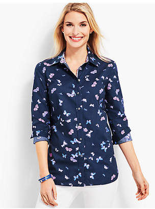 Talbots Classic Casual Shirt - Tossed Butterflies