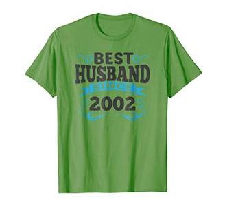 Mens 16th Wedding Anniversary Gift Best Husband Since 2002 Shirt