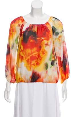 Alice + Olivia Printed Long Sleeve Blouse w/ Tags