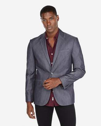 Express Slim Denim Blazer